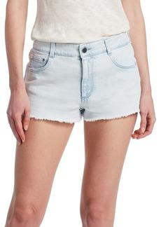 Stella McCartney Light Wash Cut-Off Denim Shorts