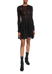 Stella McCartney Linear Lace A-Line Mini Dress