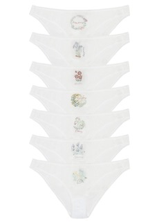 37b432f6ae06 Stella McCartney Lingerie Pack of seven day-of-the-week cotton briefs