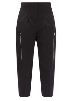 Stella McCartney Liv zipped-pocket wool cargo trousers