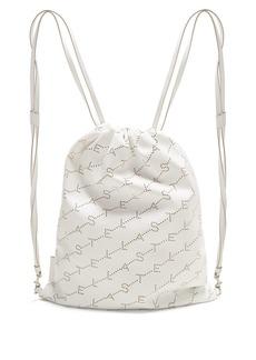 Stella McCartney Logo-pattern faux-leather drawstring backpack