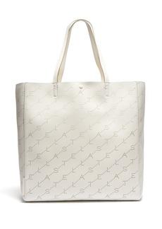 Stella McCartney Logo-pattern faux-leather tote bag