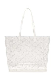 Stella McCartney Logo-pattern transparent tote bag