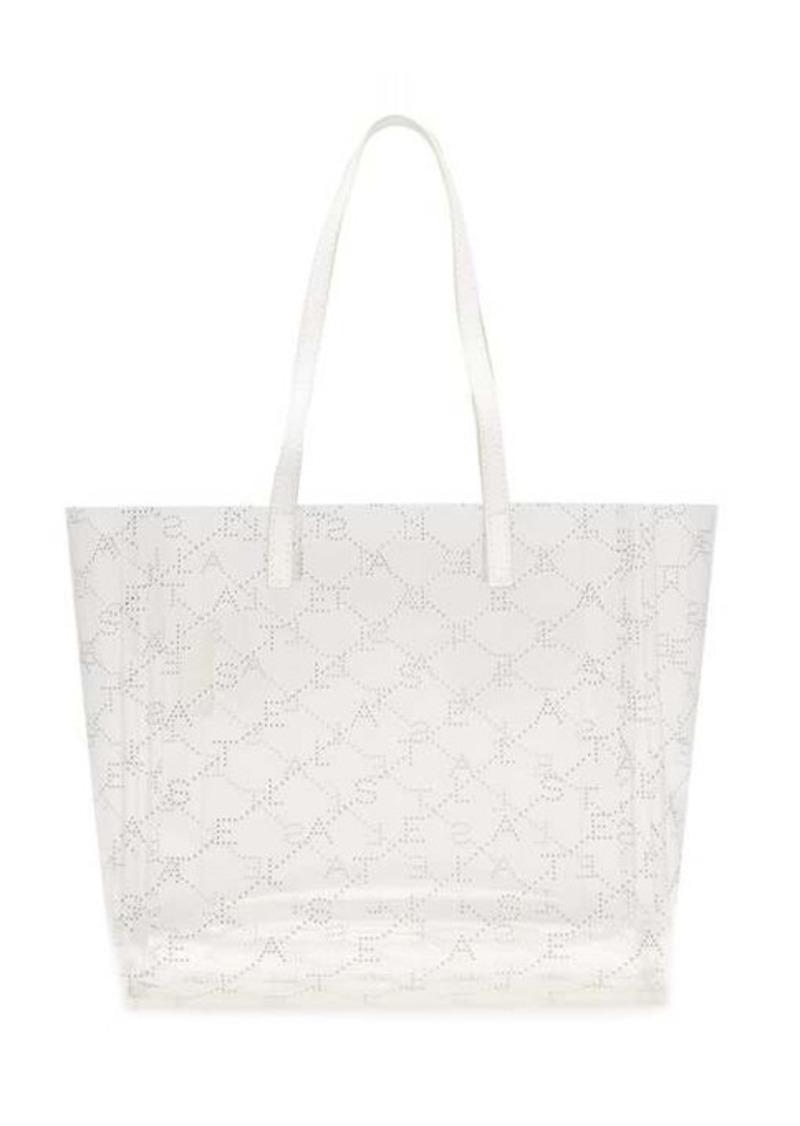 Stella McCartney Logo-pattern transparent tote bag