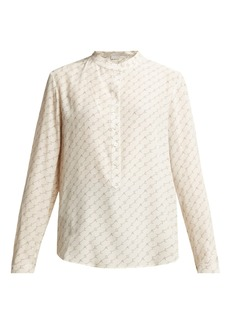 Stella McCartney Logo-print silk shirt