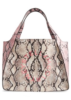 Stella McCartney Logo Snake Print Faux Leather Tote