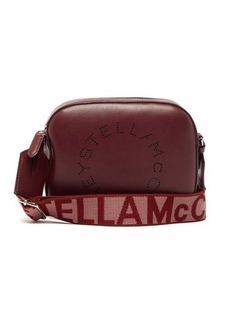 Stella McCartney Logo-strap faux-leather camera bag
