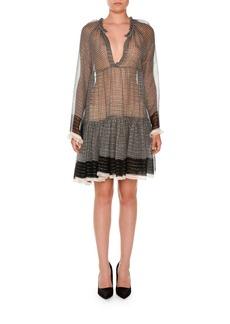 Stella McCartney Long-Sleeve Boho Peasant Dress
