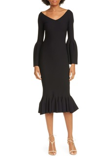 Stella McCartney Long Sleeve Flare Hem Sweater Dress