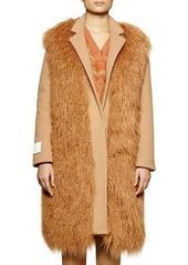 Stella McCartney Long Sleeve Wool-Blend Coat