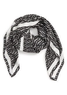 Stella McCartney Love Text Silk Scarf
