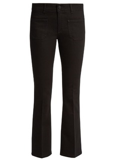 Stella McCartney Low-rise skinny kick-flare cropped jeans