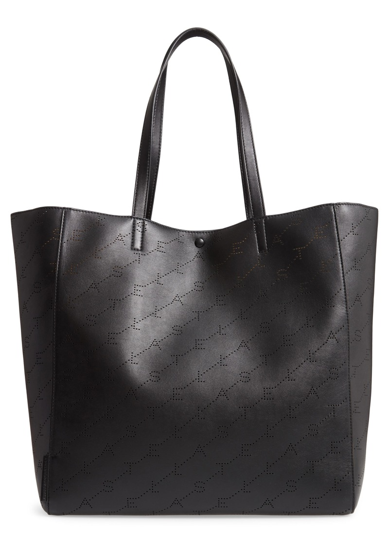 28e55365bd8f Stella McCartney Medium Perforated Logo Faux Leather Tote