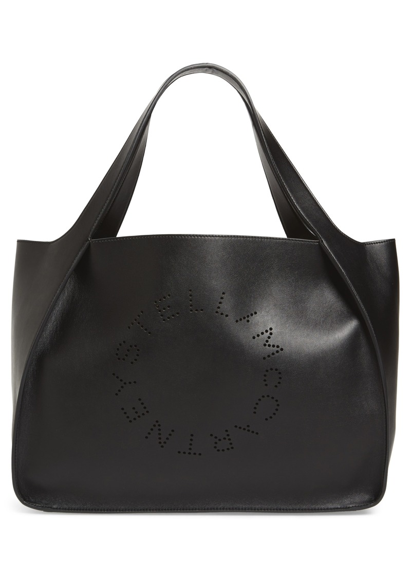 Stella McCartney Medium Perforated Logo Faux Leather Tote
