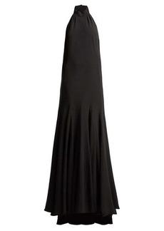 Stella McCartney Meghan halterneck cady gown