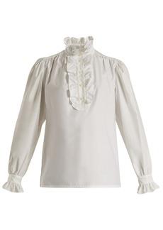 Stella McCartney Meredith ruffle-trimmed cotton-poplin blouse