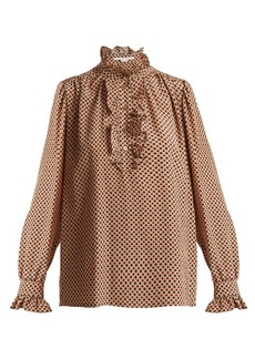 Stella McCartney Meredith ruffle-trimmed silk blouse