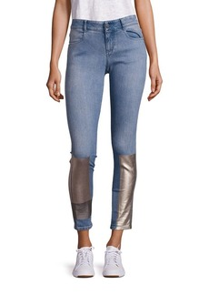 Stella McCartney Metallic Detail Skinny Ankle Jeans