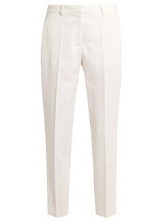 Stella McCartney Mid-rise wool cropped tuxedo trousers