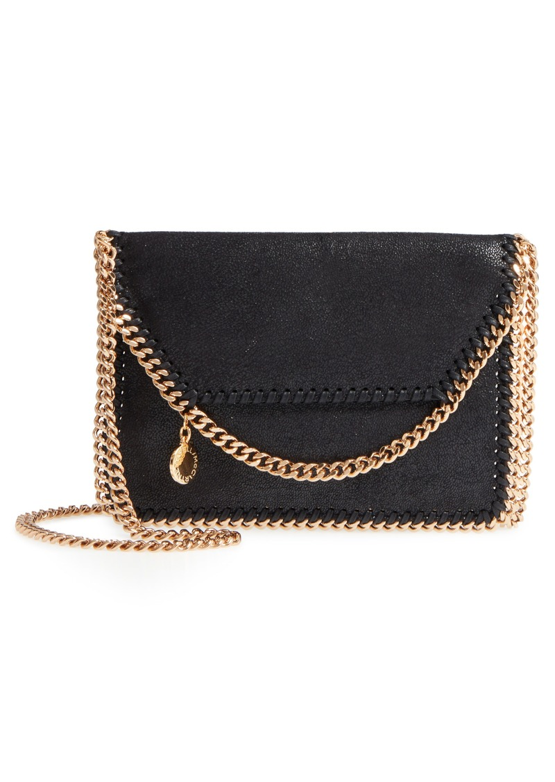 Stella Mccartney Mini Falabella Gy Deer Faux Leather Crossbody Bag
