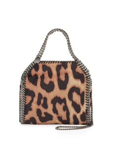 Stella McCartney Mini Falabella Shaggy Deer Leopard Tote Bag