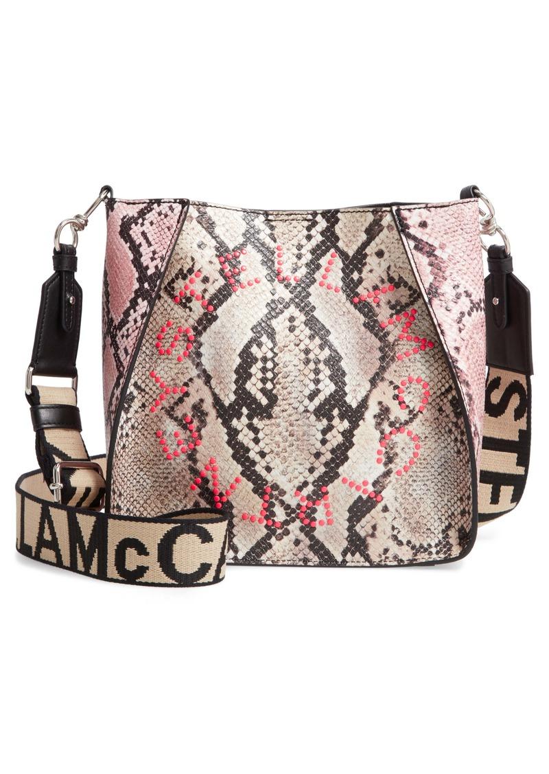 Stella McCartney Mini Snake Print Faux Leather Crossbody Bag