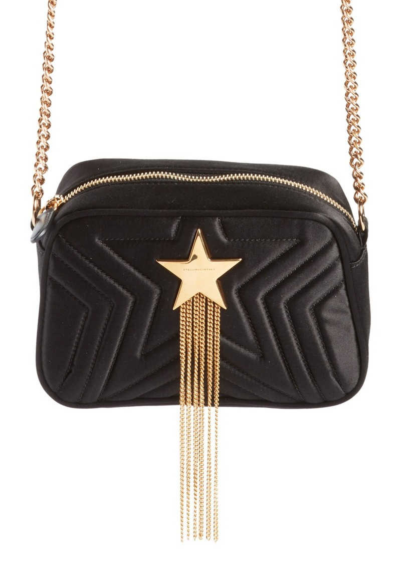 daaee50bcda8 Stella McCartney Stella McCartney Mini Star Quilted Satin Camera Bag ...