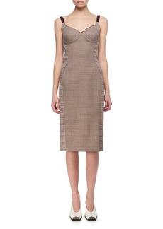 Stella McCartney Mixed-Check Wool Bustier Pencil Dress