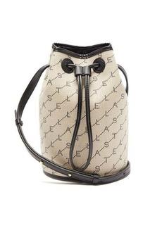 Stella McCartney Monogram faux-leather and canvas mini bucket bag