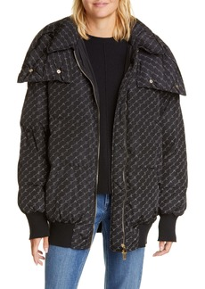 Stella McCartney Monogram Print Hooded Puffer Coat