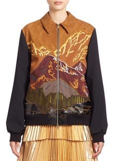 Stella McCartney Mountain Scenery Zip Bomber Jacket
