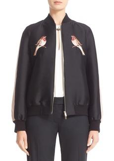 Stella McCartney Nashville Embroidered Bomber Jacket