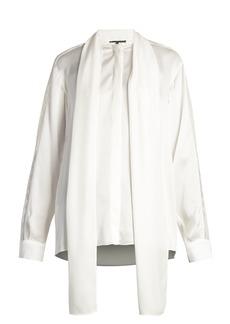 Stella McCartney Neck-tie silk-satin blouse
