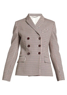 Stella McCartney Olivia double-breasted checked blazer