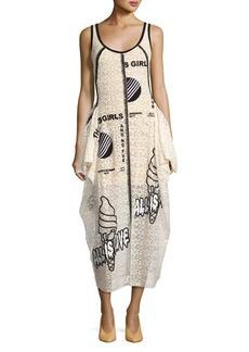 Stella McCartney Olwen Embroidered Lace Tank Dress