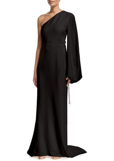 Stella McCartney One-Shoulder Crepe Gown
