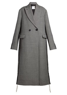 Stella McCartney Oversized double-breasted houndstooth coat