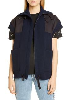 Stella McCartney Oversized Military Wool Sweater Vest