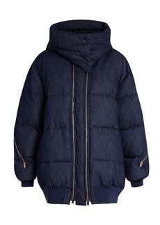 Stella McCartney Oversized quilted denim jacket