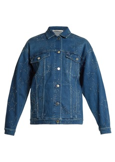 Stella McCartney Oversized star-embroidered denim jacket