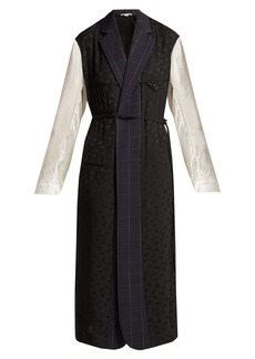 Stella McCartney Panelled twill, jacquard and satin dress