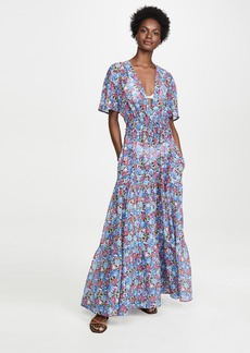 Stella McCartney Pansy Print Long Dress