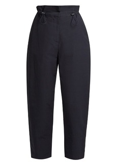 Stella McCartney Paperbag-waist tapered twill trousers