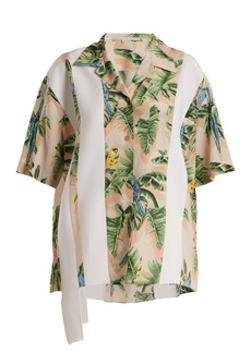 Stella McCartney Parrot-print silk crepe de Chine shirt