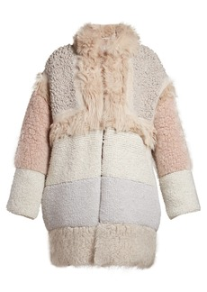 Stella McCartney Patchwork faux-fur coat