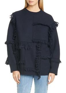 Stella McCartney Patchwork Fringe Wool Sweater