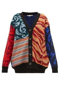 Stella McCartney Patchwork-knitted wool cardigan