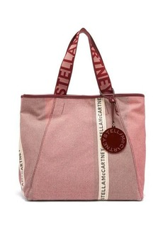 Stella McCartney Patchwork logo-jacquard canvas tote bag
