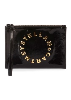 Stella McCartney Patent Alternative Logo Wallet