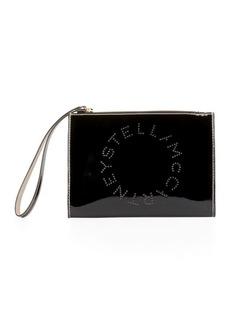 Stella McCartney Patent Alternative Nappa Logo Wallet